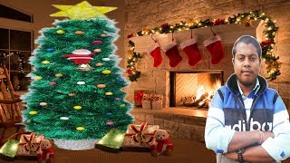 How to Make A Very Easy and Beautiful Christmas Tree |🎄 DIY Project | Rong-Bahar Art |