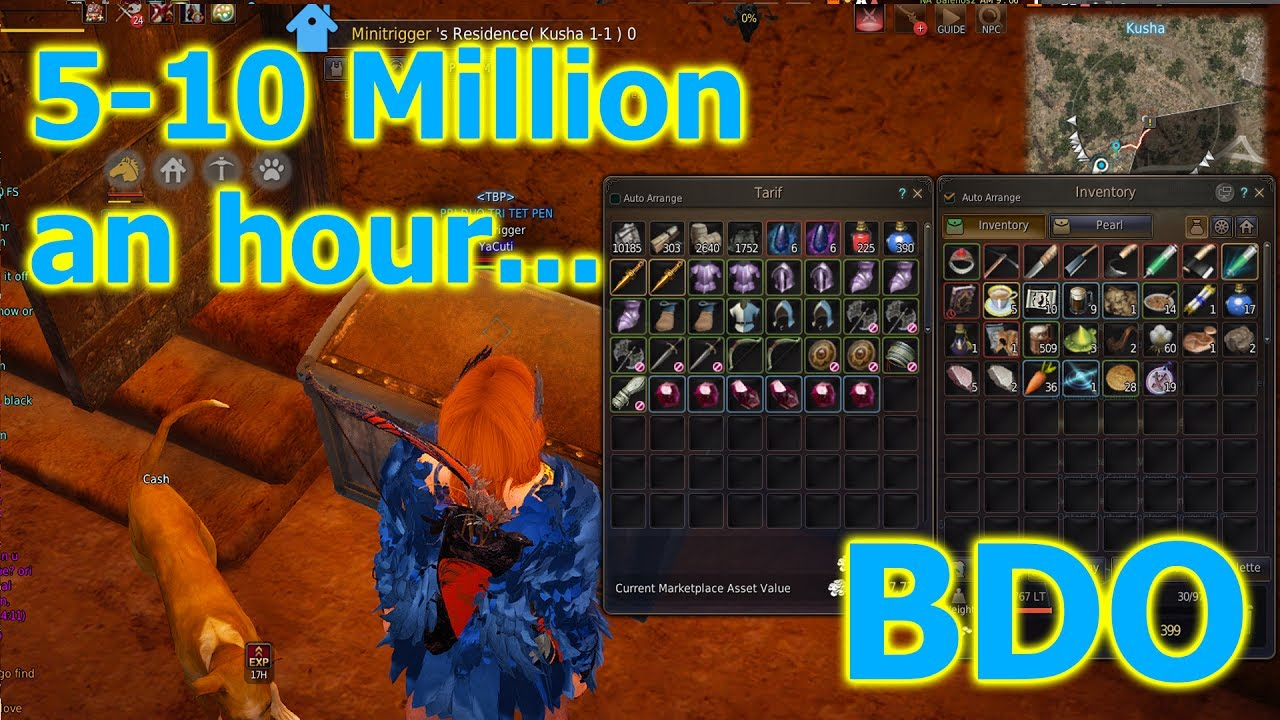 Black Desert Online - [2017] Loot from 5 hours at Sausan Garrison (5-10M  Silver/Hour)