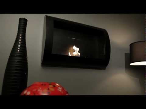 Anywhere Fireplace Chelsea w/ Black Finish- Ventless Bio Ethanol Fireplace