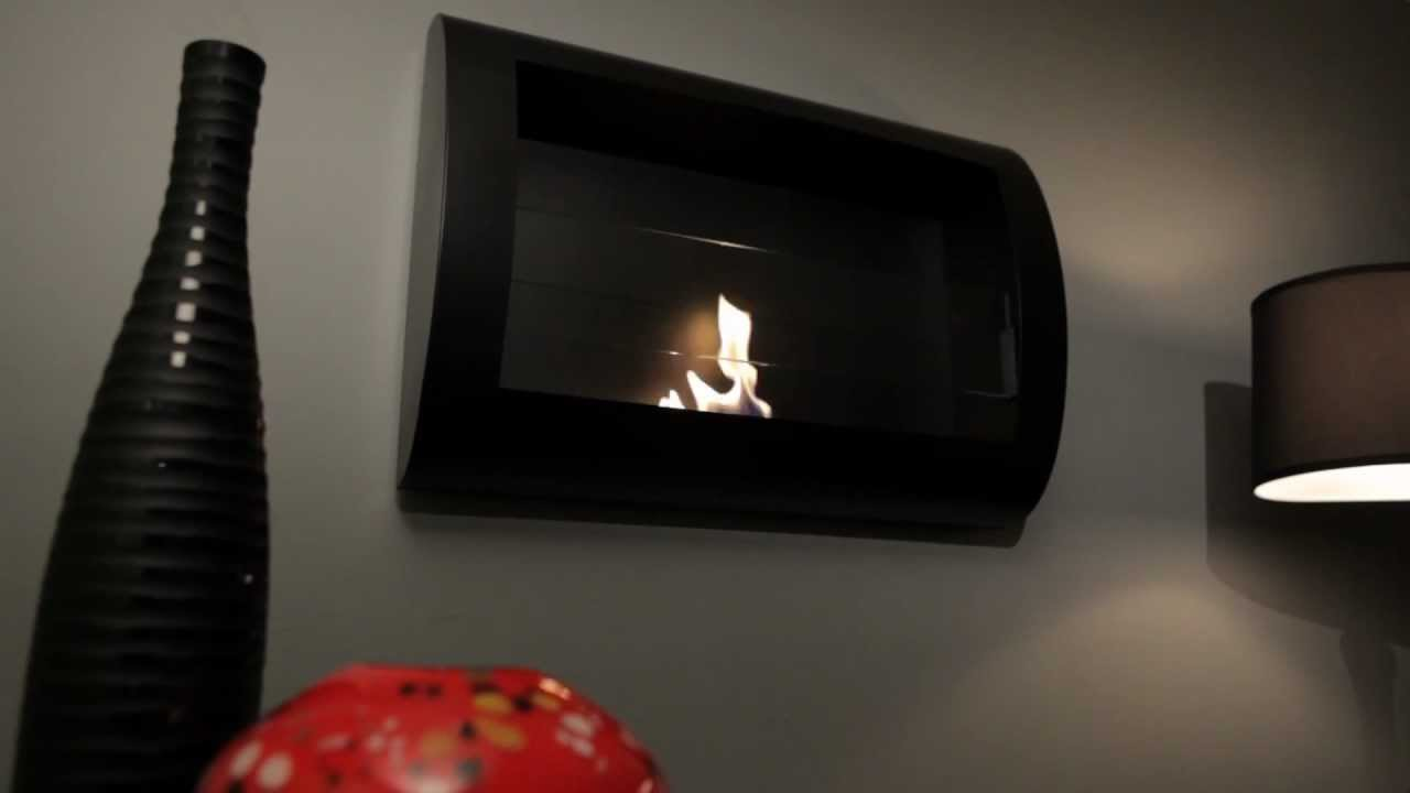 Anywhere Fireplace Chelsea W Black Finish Ventless Bio Ethanol Fireplace Youtube