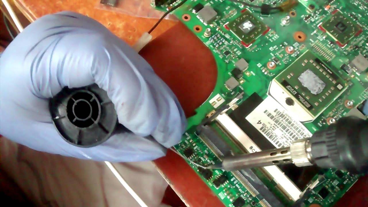 Reparación placa base hp compaq 6735s FALLO NO ENCIENDE PORTÁTIL ...