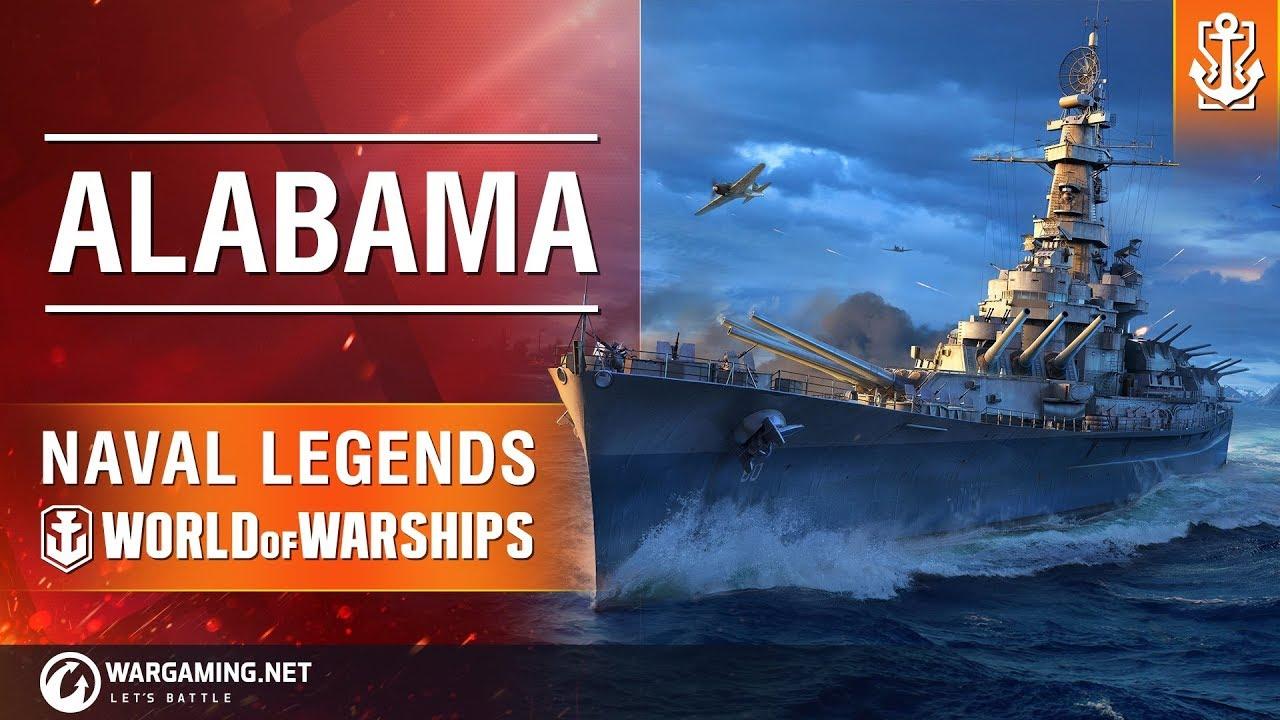 Naval Legends in World of Warships: Battleship Alabama ...