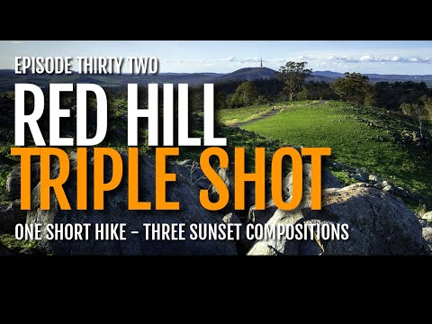 Landscape photography in Canberra: Red Hill THREE SHOT SUNSET