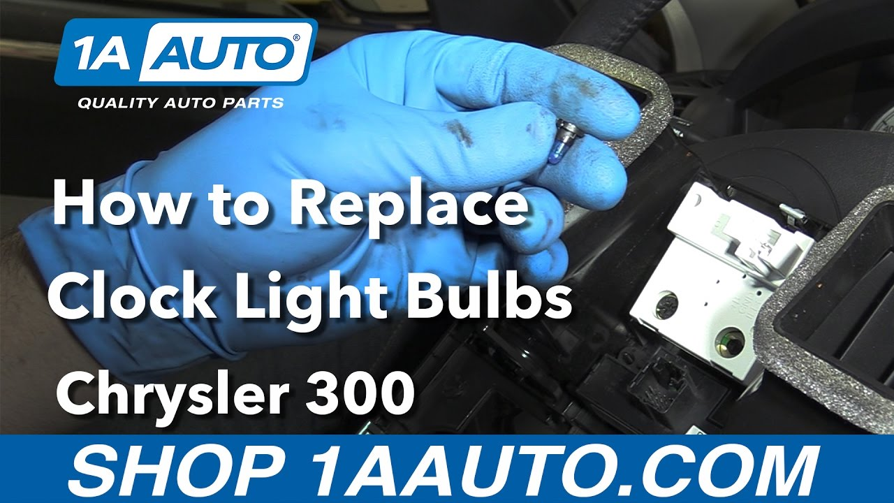 How To Replace Clock Light Bulbs 05 10 Chrysler 300