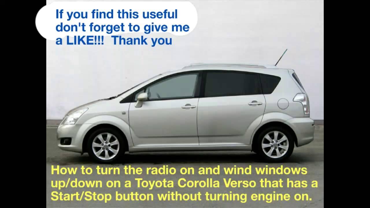 toyota corolla verso car stereo