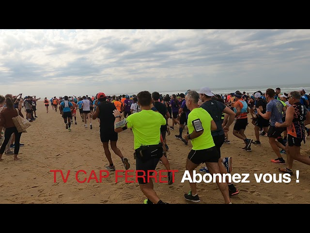 Foulée des Baïnes #3 - vlog -Départ de la course des 22 et 31kms Plage Grand Crohot Lège-Cap Ferret