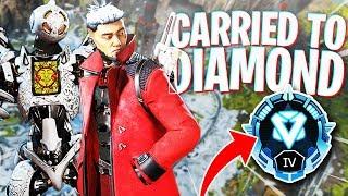 CARRIED to Diamond by my Random Crypto Teammate! - PS4 Apex Legends!