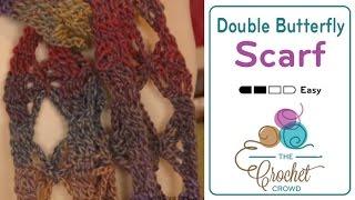 Crochet Double Butterfly Stitch - Scarf