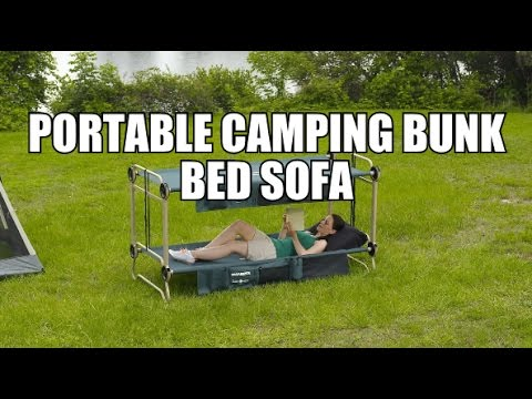 portable camping bunk bed sofa - youtube