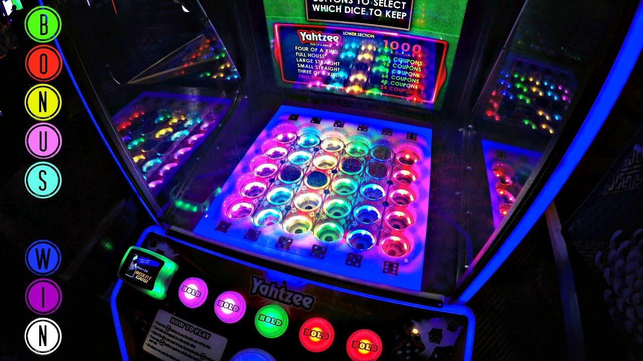 Jackpot Win! Yahtzee Ticket Redemption Video Arcade Game!