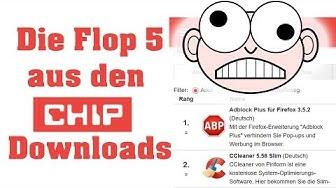 Die 5 schlimmsten Download Sünden aus den CHIP 100!