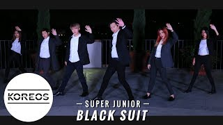 Koreos Super Junior 슈퍼주니어 Black Suit Dance Cover