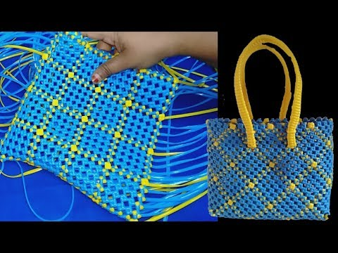 Border Diamond Shape CrossCut Koodai Tutorial Plastic Wire Koodai Making Basket weaving
