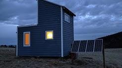 Off-Grid Solar Tiny House - Solar Panels and Rack