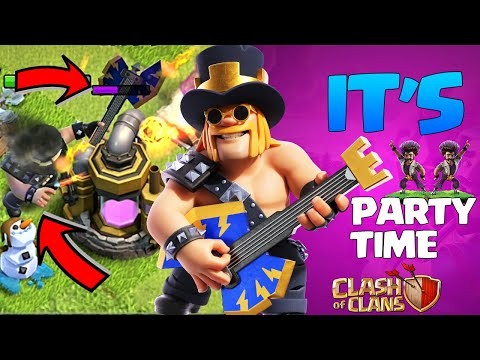 New HERO skin in so OP!!! - Party Barbarian King Skin - New Barbarian King Skin Clash Of clans Coc