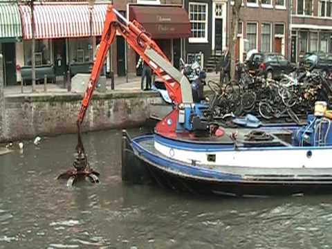 Amsterdam Canal Cleaning