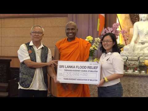 Sri Lanka Flood Relief - Presentation of cheques to Theravada Buddhist Council Malaysia 180617