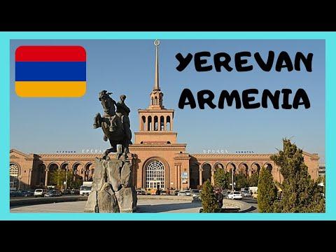 ARMENIA, the beautiful Soviet-era TRAIN STATION rain station in YEREVAN