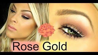 Rose Gold Makeup Tutorial Feat. Tarte Rose Gold Liner! | Valerie pac