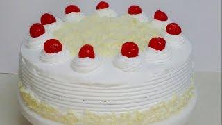 SIMPLE EASY WHITE FOREST CAKE    HOMEMADE!!