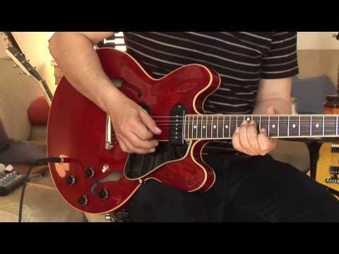 Gibson ES-335 P-90 Modell LTD Ed. plus Fender Vibr...