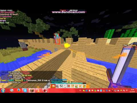 Hrajeme Minecraft Annihilation + Huzuni Cheats