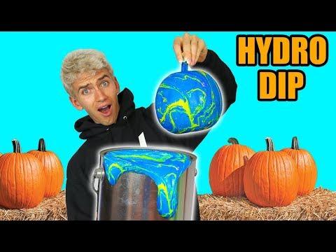 HYDRO DIP PUMPKIN!! (GHOST WARNING)