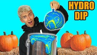 HYDRO DIP PUMPKIN!! (GHOST WARNING)