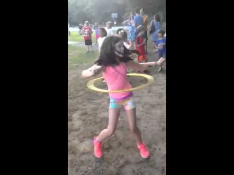 Kaitlyn hula hoop at Beecher school