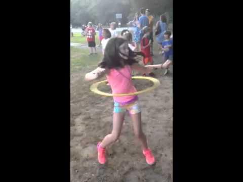 Kaitlyn hula hoop at Beecher school