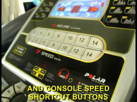 Motorised Treadmill Diadora Radio 50 HRC Workout and Presentation