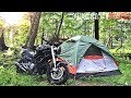 Moto Camping w Dirty Billy, Building Tent, Campsite Tour, Cuddlebackville, Fire Burritos v804
