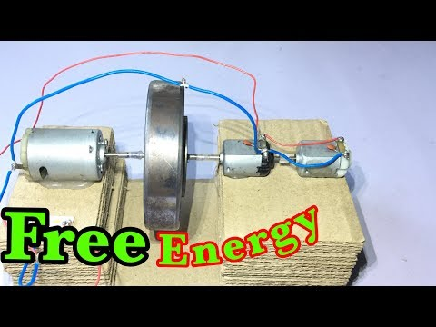 How to make free energy generator, a flywheel generator | Self running generators Homemade Invention thumbnail