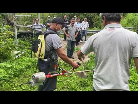 GF1500草戰士電動割草機+牛筋繩挑戰山棕蕨