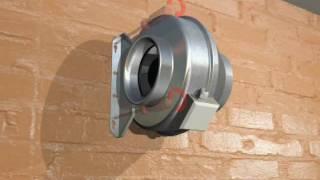 видео Канальные вентиляторы для круглых воздуховодов