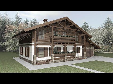Альпийский стиль шале в архитектуре
