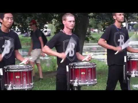 Bluecoats warmup - Allentown 2016 - In the lot