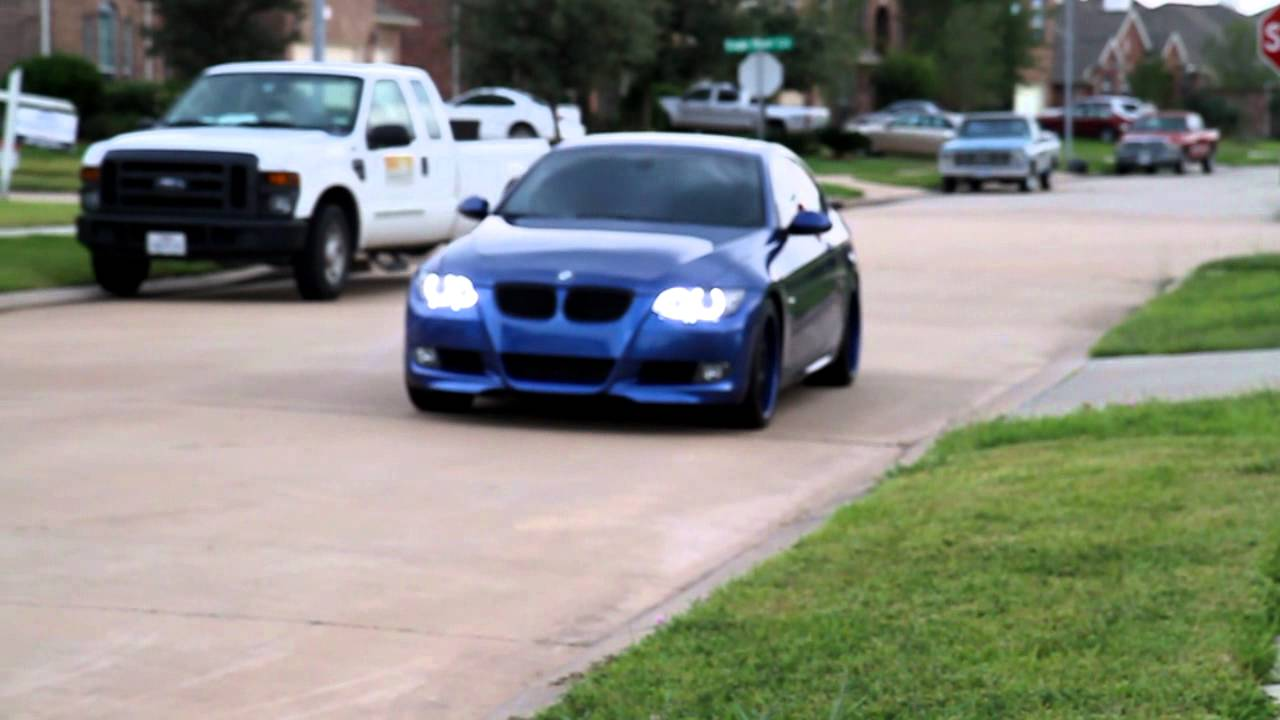 Toddler driving a 2009 bmw 335 e92 coupe with umnitza predator orion v4 led angel eyes youtube