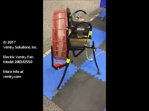 Ventry® Electric Positive Pressure Ventilation/Attack Fan Model 20EM3550