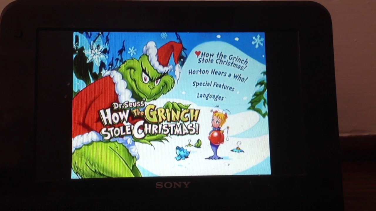 Dr Seuss The Grinch Who Stole Christmas Poem.Dr Seuss How The Grinch Stole Christmas 2000 01 Dvd Menu