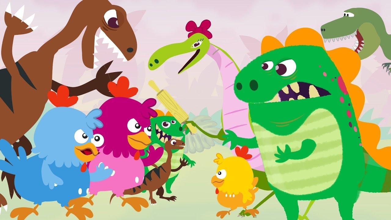 Dino E Dina Dinossauros E As Criancas Trocadas Desenho Animado