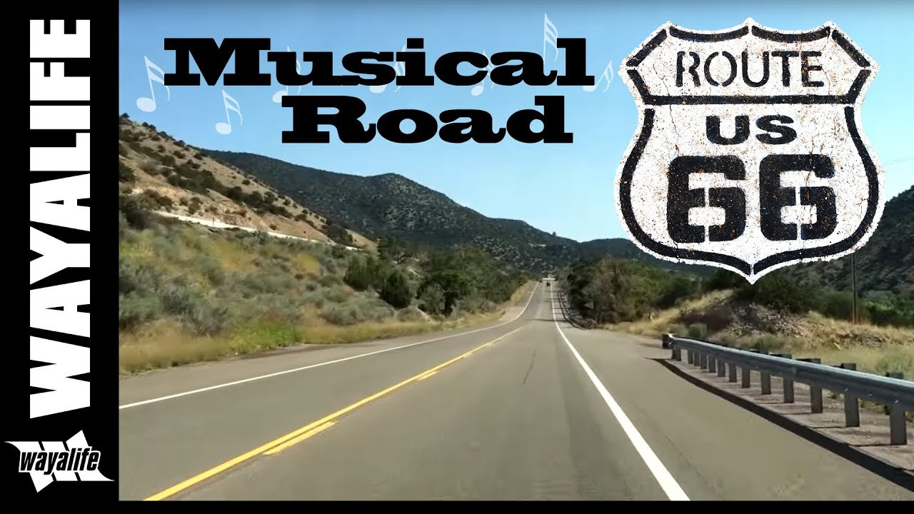Route 66 Musical Road Tijeras New Mexico Youtube