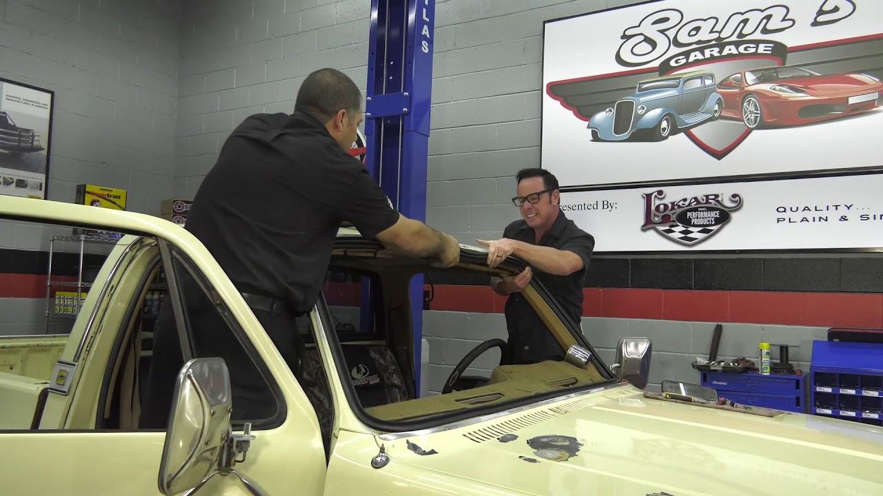 hight resolution of sam s garage s2 e1 73 87 chevy gmc truck windshield install