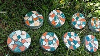 DIY mosaic stepping STONE