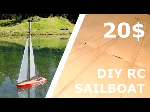 DIY RC SAILBOAT FOR 20$! [Part 1]