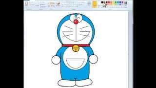 Draw a Doraemon with Ms. Paint
