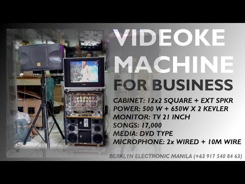 Videoke 12x2 Square Portable + Speakers Kevler Kx650  + Tripod - Berklyn Electronics Manila