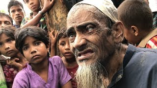 Elderly Rohingya couple travelled for 8 days to flee violence in Myanmar
