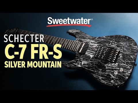 Schecter C-7 FR-S Silver Mountain Electric Guitar Demo