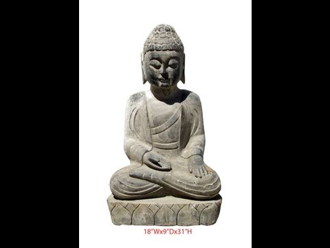 Unique Chinese Antique Buddha Hand Carving Sitting Statue WK2545